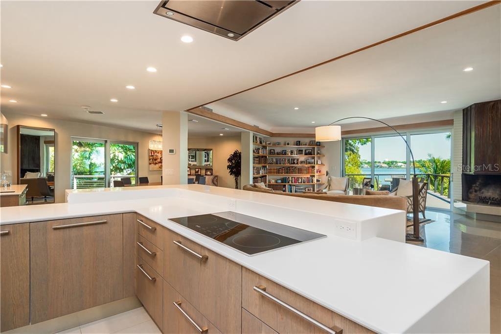 Gourmet kitchen with open bay views. - Single Family Home for sale at 6841 Peacock Rd, Sarasota, FL 34242 - MLS Number is A4430828
