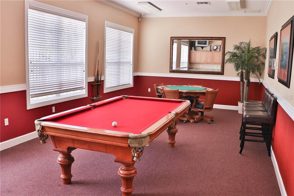 Community Billiards Room - Condo for sale at 5511 Rosehill Rd #201, Sarasota, FL 34233 - MLS Number is A4431621