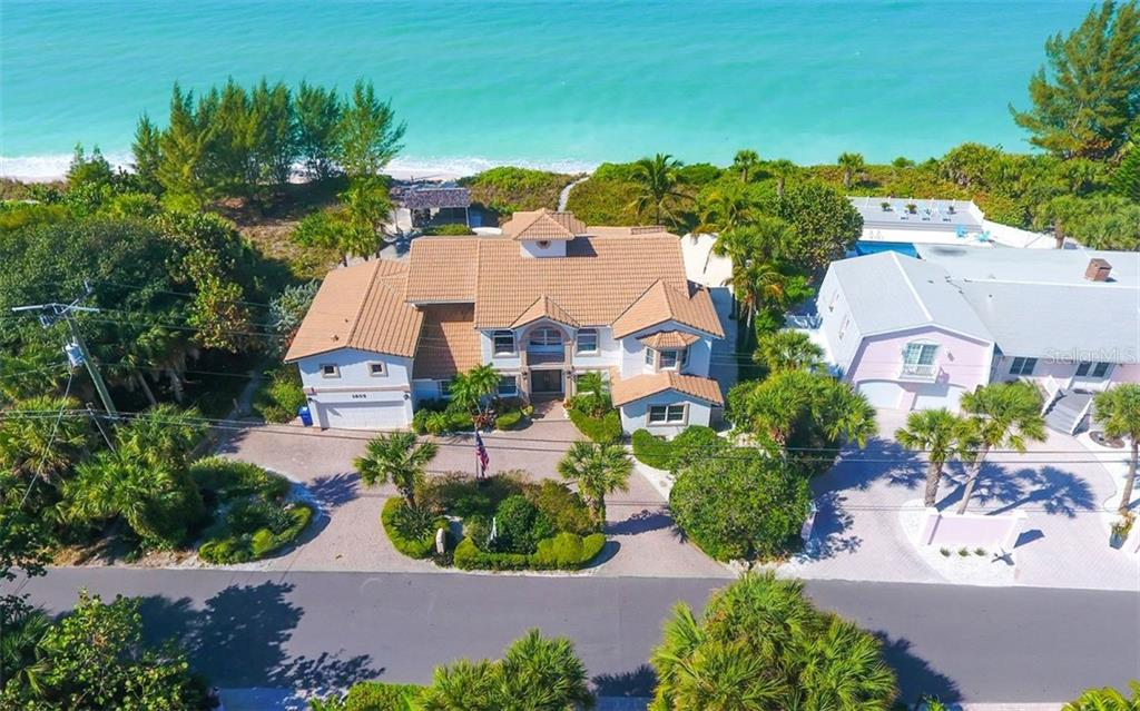 Aerial from Beach - Single Family Home for sale at 3809 Casey Key Rd, Nokomis, FL 34275 - MLS Number is A4437924