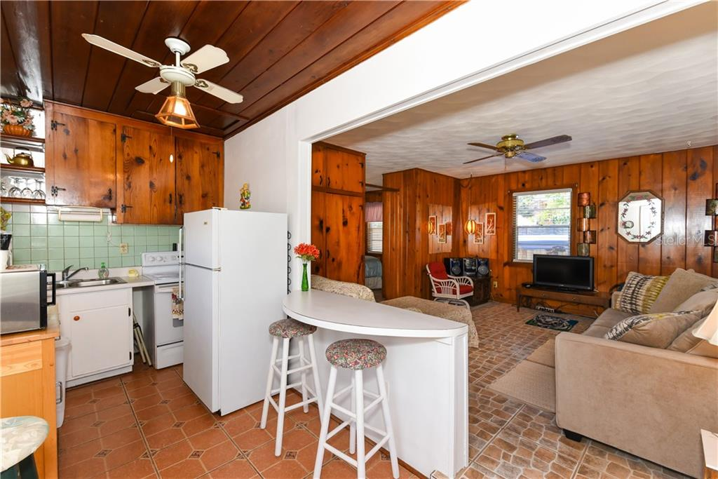 Guest house, kitchen and living room - Single Family Home for sale at 234 Grant Dr, Sarasota, FL 34236 - MLS Number is A4438170