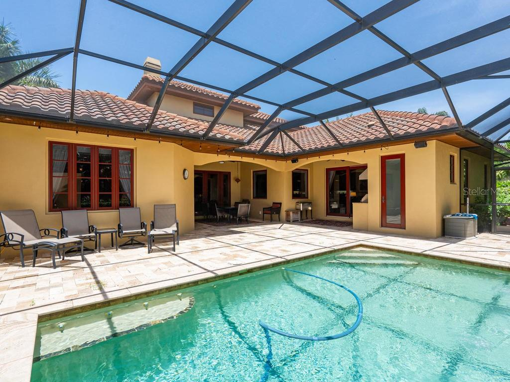 Spacious patio perfect for entertaining - Single Family Home for sale at 158 Puesta Del Sol, Osprey, FL 34229 - MLS Number is A4439362