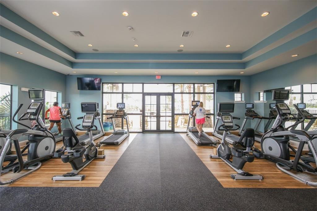 Fitness Center in The Lodge - Single Family Home for sale at 15212 Linn Park Ter, Lakewood Ranch, FL 34202 - MLS Number is A4450793