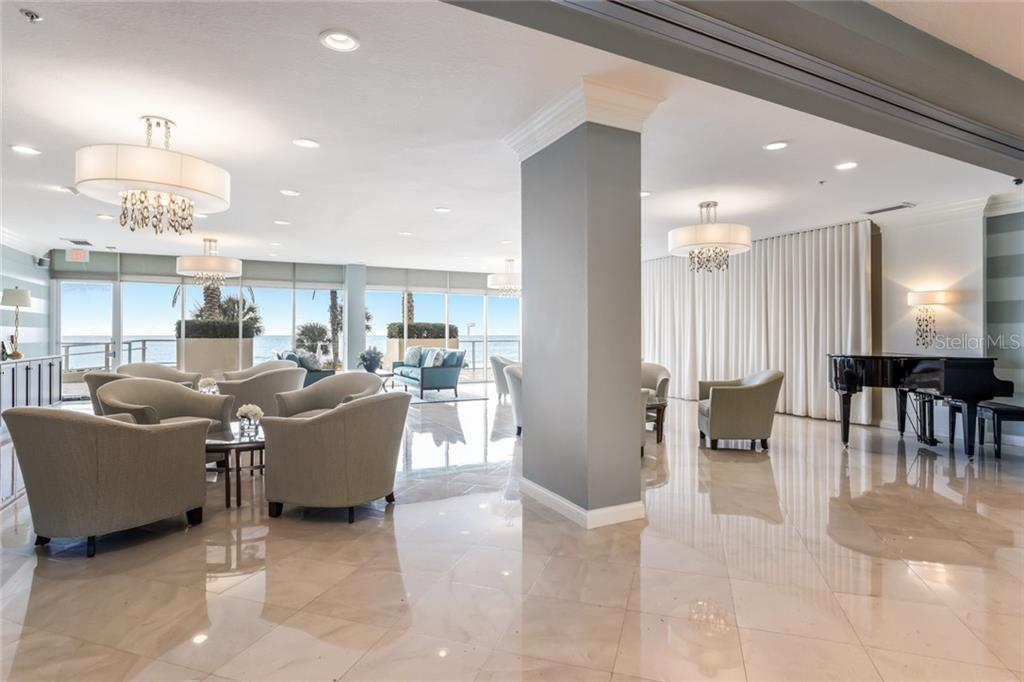 Building lobby. - Condo for sale at 1800 Benjamin Franklin Dr #b506, Sarasota, FL 34236 - MLS Number is A4451047
