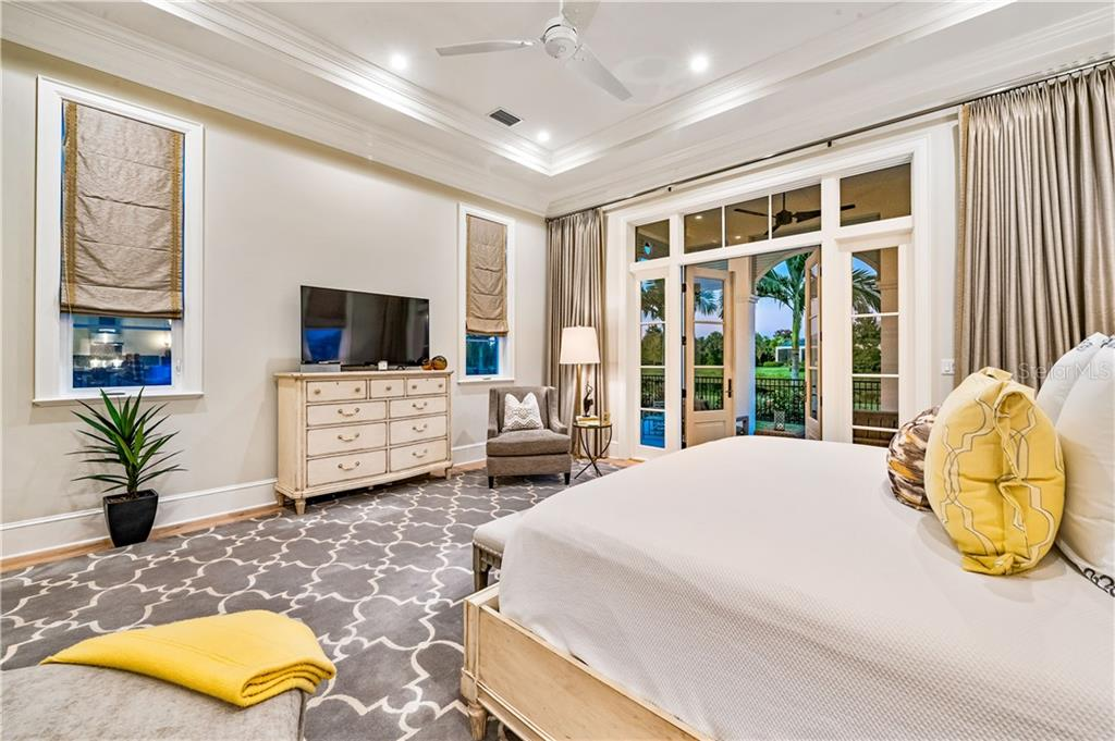 Private Master Suite with French Door leading out to Private Outdoor Space. - Single Family Home for sale at 16119 Baycross Dr, Lakewood Ranch, FL 34202 - MLS Number is A4452632