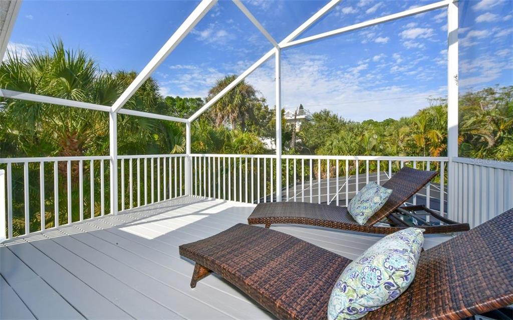 Private screened deck off master bedroom - Single Family Home for sale at 623 Avenida Del Norte, Sarasota, FL 34242 - MLS Number is A4454692