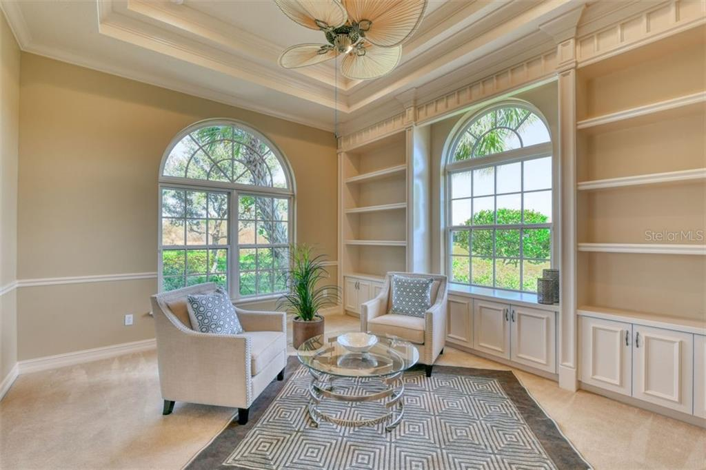 The sun room, which can also be the bedroom number 2 - Single Family Home for sale at 3719 Founders Club Dr, Sarasota, FL 34240 - MLS Number is A4455099