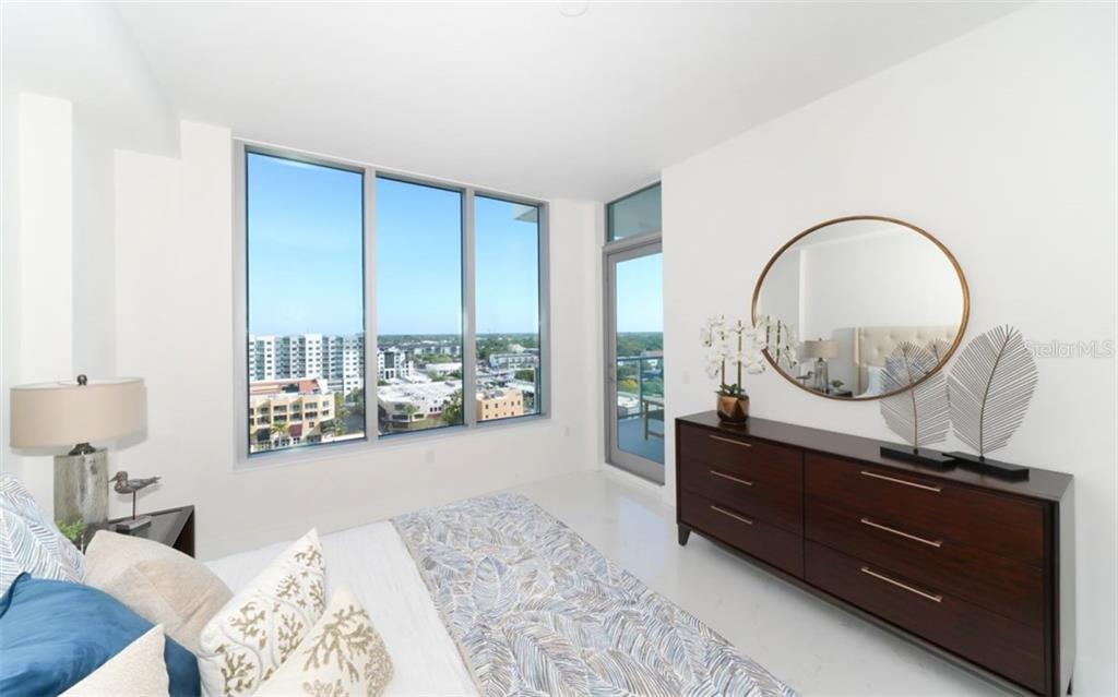 Master suite w/balcony access. - Condo for sale at 111 S Pineapple Ave #1117 L-1, Sarasota, FL 34236 - MLS Number is A4461778