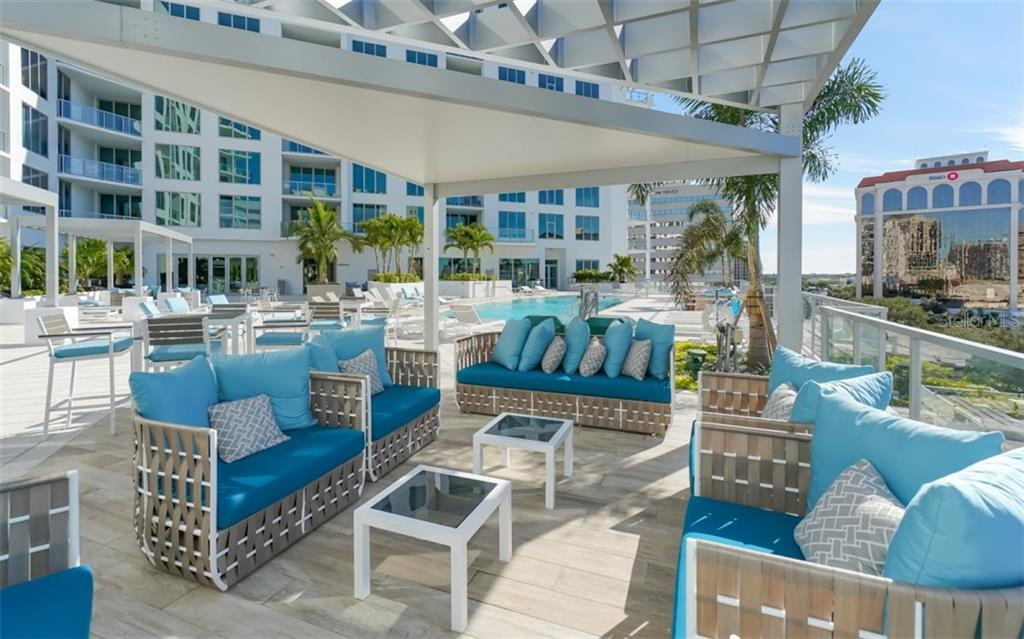 The Mark - Patio & pool - Condo for sale at 111 S Pineapple Ave #1117 L-1, Sarasota, FL 34236 - MLS Number is A4461778