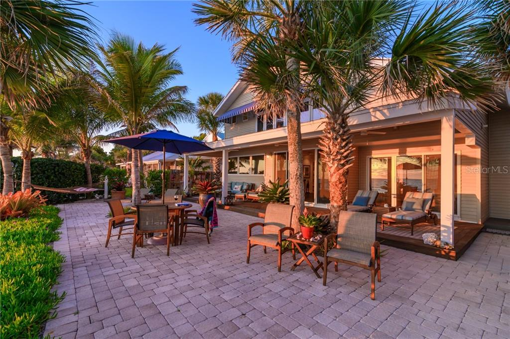 Spacious Gulf Side Paver Deck & Covered Terrace - Single Family Home for sale at 7340 Point Of Rocks Rd, Sarasota, FL 34242 - MLS Number is A4461841