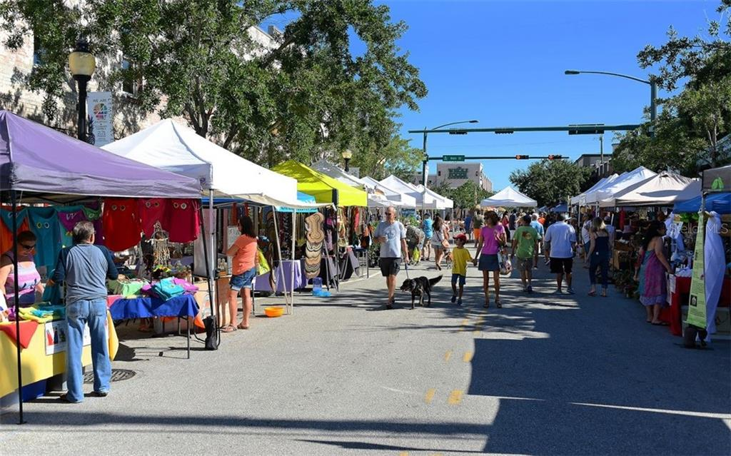 Downtown weekly farmer's market. - Condo for sale at 111 S Pineapple Ave #610, Sarasota, FL 34236 - MLS Number is A4463717