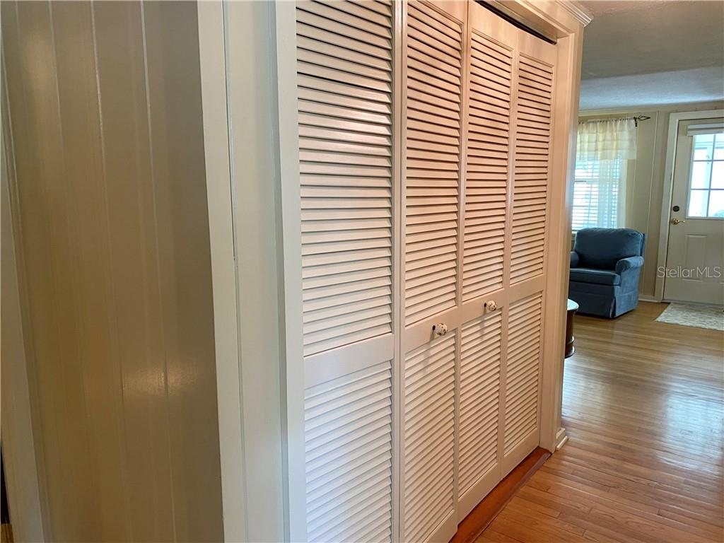 Hall closet across from the bathroom. - Single Family Home for sale at 4300 Eastern Pkwy, Sarasota, FL 34233 - MLS Number is A4464200