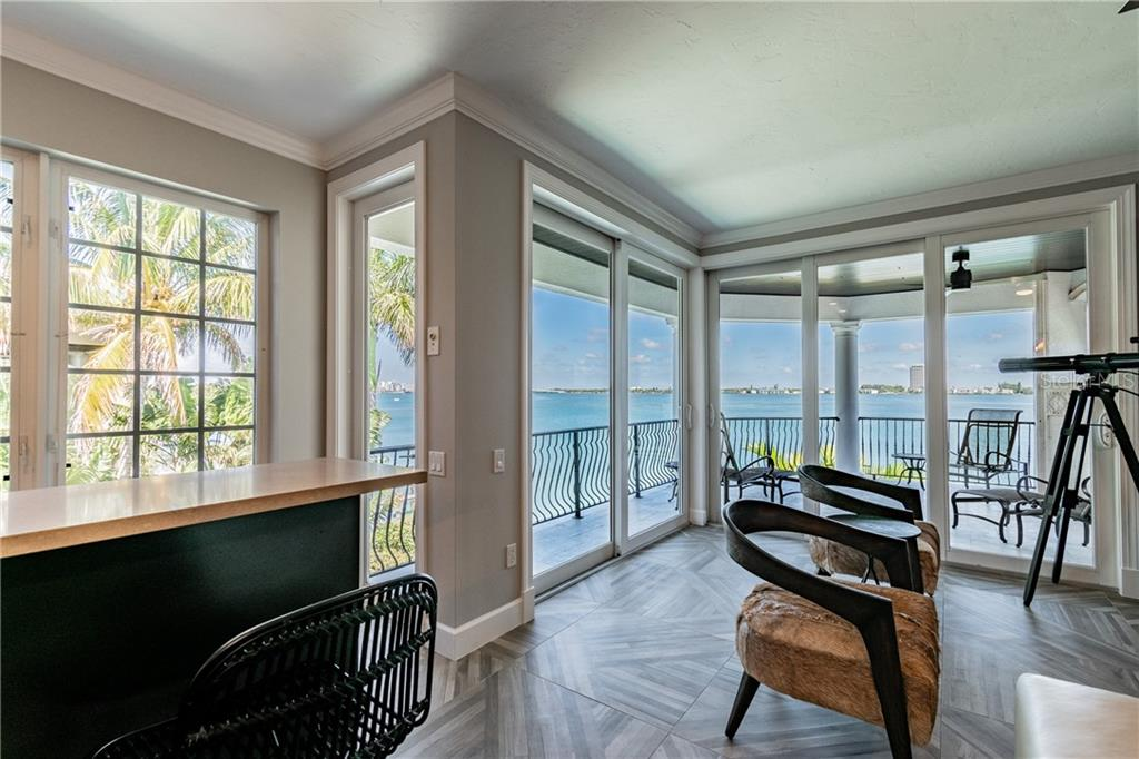 View from Billiard room - Single Family Home for sale at 1418 John Ringling Pkwy, Sarasota, FL 34236 - MLS Number is A4467093