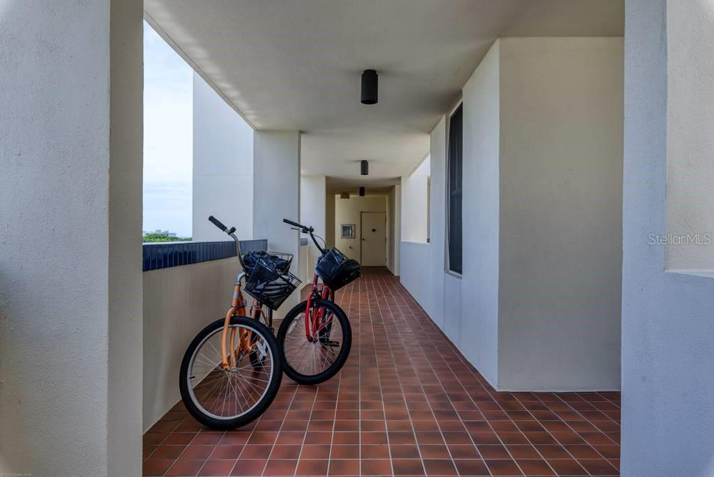 BONUS!!!  Two fabulous cruisers come with the condo!  Plenty of bike storage in the garage. - Condo for sale at 2016 Harbourside Dr #352, Longboat Key, FL 34228 - MLS Number is A4470767