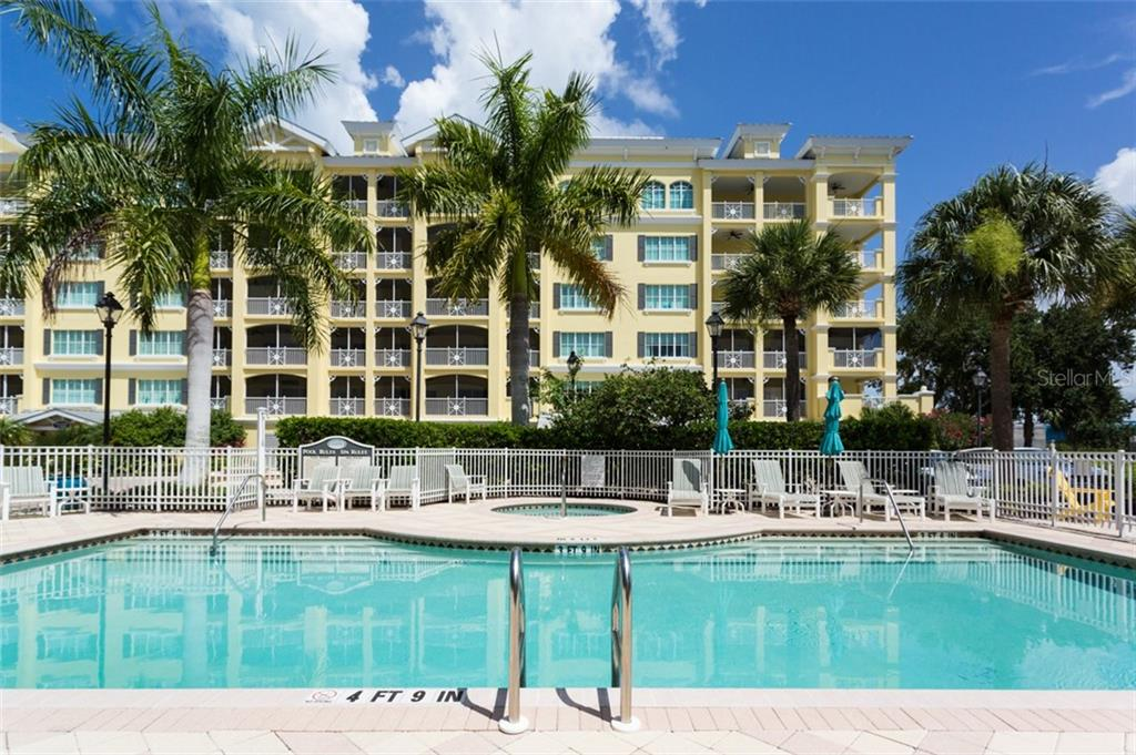 Heated salt water pool and spa - Condo for sale at 1308 Old Stickney Point Rd #W24, Sarasota, FL 34242 - MLS Number is A4471155