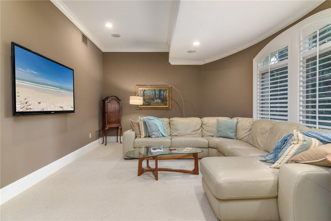 Hours of entertainment await in the cozy media room with all electronics imaginable! - Single Family Home for sale at 1807 Oleander St, Sarasota, FL 34239 - MLS Number is A4475067
