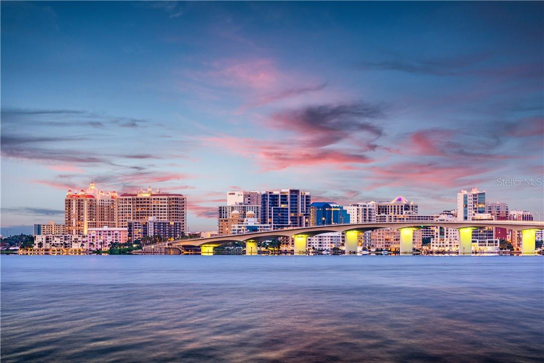 Stunning city of Sarasota skyline with John Ringling Bridge. - Single Family Home for sale at 1807 Oleander St, Sarasota, FL 34239 - MLS Number is A4475067