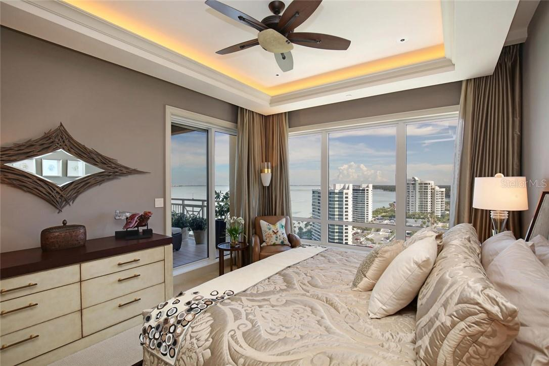 Terrace from Master Bedroom - Condo for sale at 35 Watergate Dr #1803, Sarasota, FL 34236 - MLS Number is A4476458