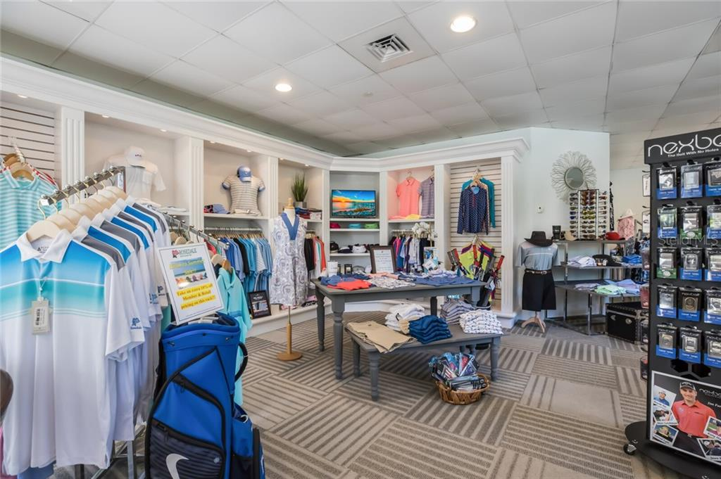 The pro-shop offers an array of merchandise. - Single Family Home for sale at 9618 53rd Dr E, Bradenton, FL 34211 - MLS Number is A4477826