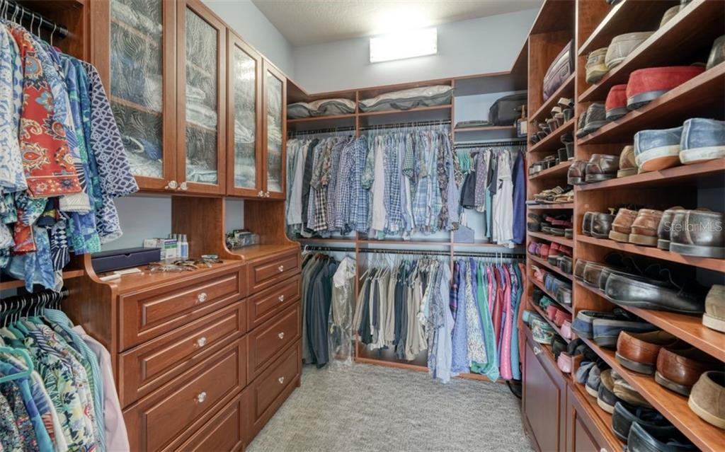 The master closet - storage for everything! - Condo for sale at 1350 Main St #1601, Sarasota, FL 34236 - MLS Number is A4478753