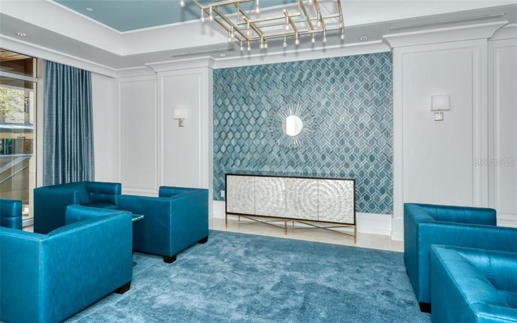 The lobby has been recently re-done - Condo for sale at 1350 Main St #1601, Sarasota, FL 34236 - MLS Number is A4478753