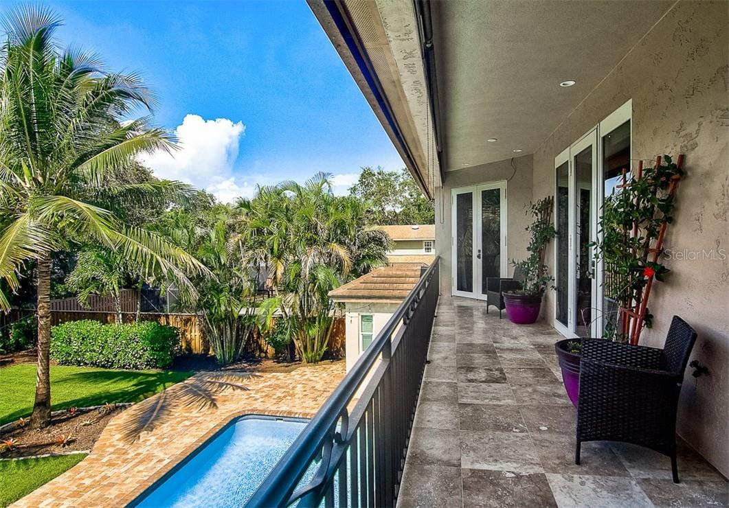 Beautiful balcony overlooking backyard - Single Family Home for sale at 1839 Buccaneer Ct, Sarasota, FL 34231 - MLS Number is A4479580