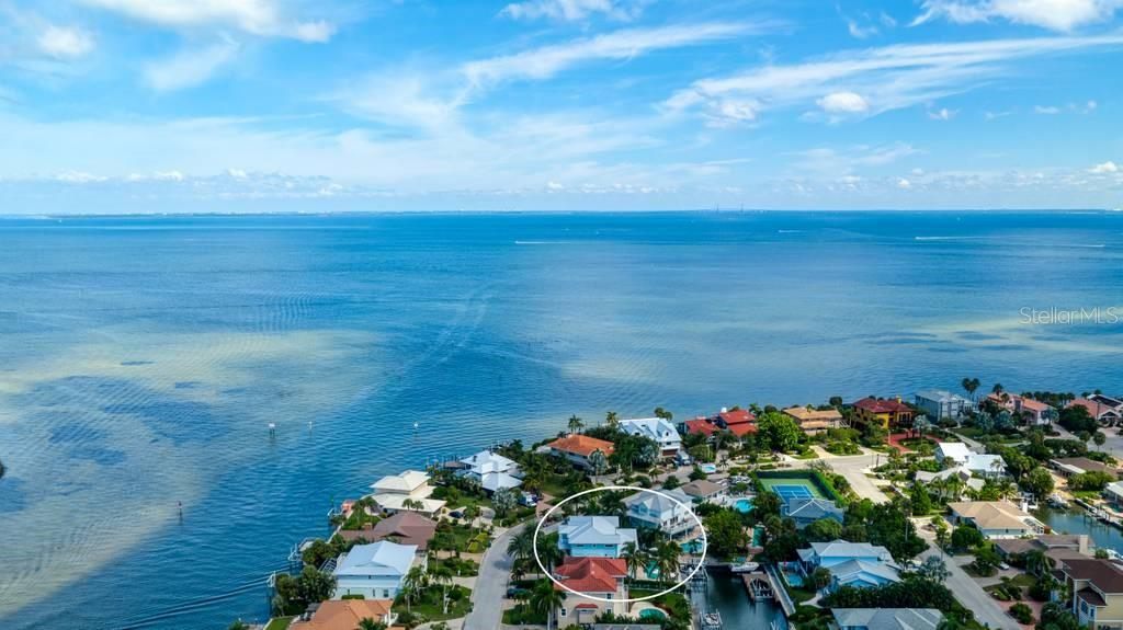 Aerial view of Tampa Bay. - Single Family Home for sale at 718 Key Royale Dr, Holmes Beach, FL 34217 - MLS Number is A4480381