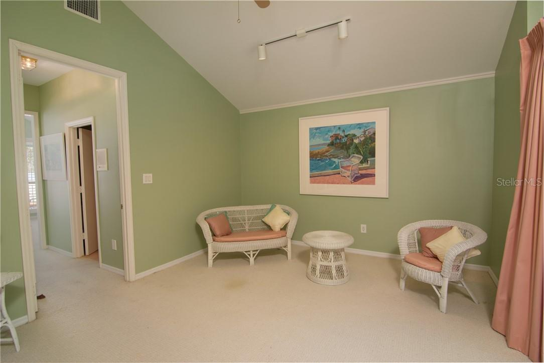 Second floor South ensuite sitting room - Single Family Home for sale at Address Withheld, Sarasota, FL 34242 - MLS Number is A4483403
