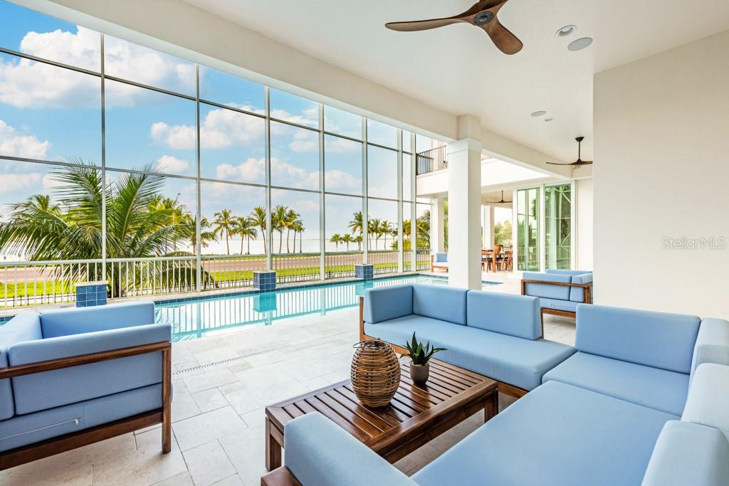 Outdoor Lounge Off Pool Deck - Single Family Home for sale at 121 Seagull Ln, Sarasota, FL 34236 - MLS Number is A4483951