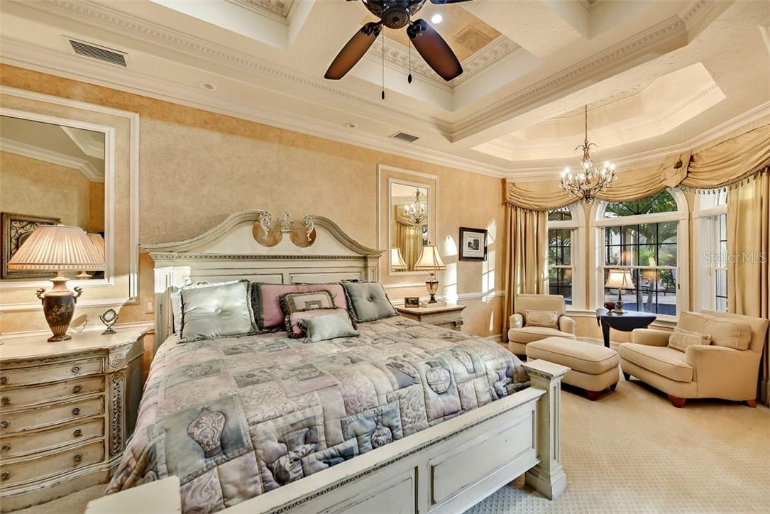 Custom headboard, footboard, elegant but warm & inviting .... dream away - Single Family Home for sale at 8263 Archers Ct, Sarasota, FL 34240 - MLS Number is A4483993