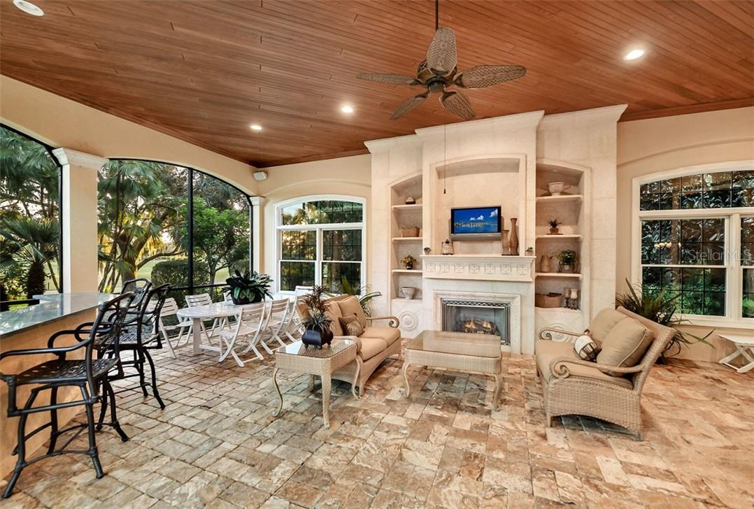 ONE OF THE MANY PATIOS FOR ALL YOUR OUTDOOR ENTERTAINING ! - Single Family Home for sale at 8263 Archers Ct, Sarasota, FL 34240 - MLS Number is A4483993