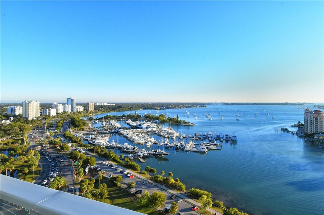 View from Balcony #1 - Condo for sale at 1155 N Gulfstream Ave #1802, Sarasota, FL 34236 - MLS Number is A4485046