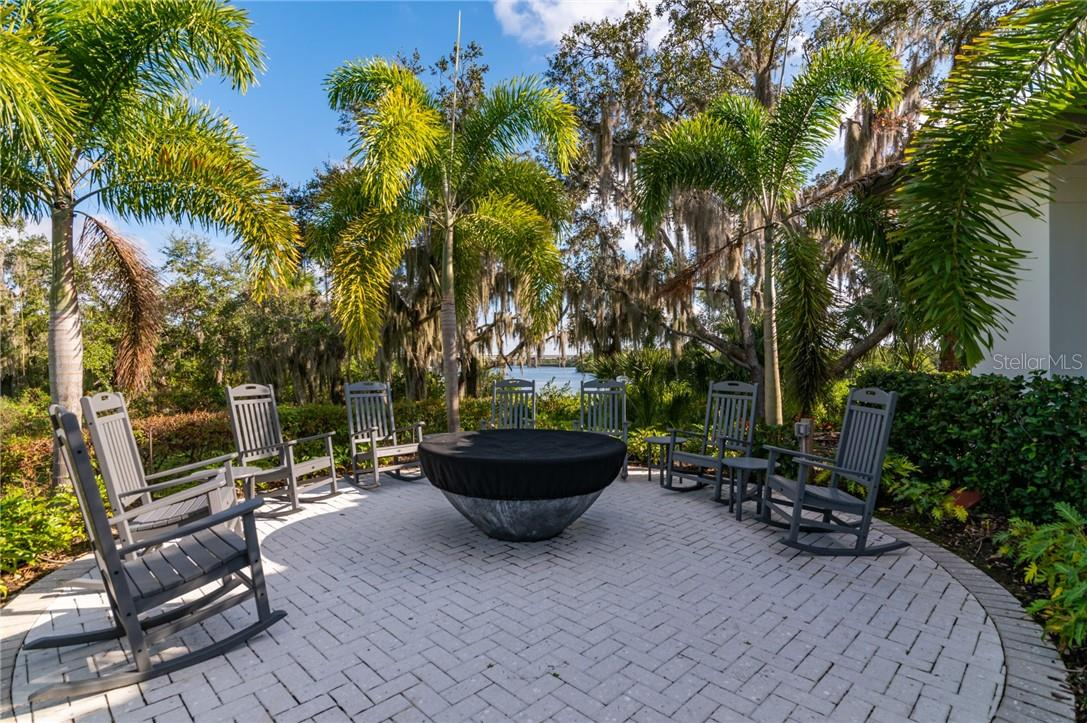 The fire pit at the River Lodge. - Single Family Home for sale at 11720 Rive Isle Run, Parrish, FL 34219 - MLS Number is A4486302