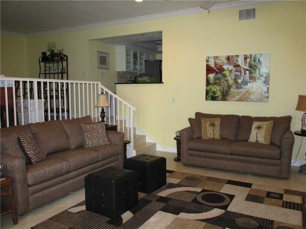 LIVING ROOM - Condo for sale at 1087 W Peppertree Dr #221d, Sarasota, FL 34242 - MLS Number is A4493593