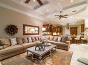 Family room/Kitchen - Single Family Home for sale at 640 Rountree Dr, Longboat Key, FL 34228 - MLS Number is A4169177