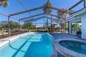 Swimming pool, spa and paver brick lanai - Single Family Home for sale at 5439 Azure Way, Sarasota, FL 34242 - MLS Number is A4203969