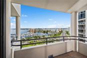 View from balcony - Condo for sale at 1255 N Gulfstream Ave #1502, Sarasota, FL 34236 - MLS Number is A4413205