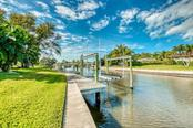 Dock #1 with boat lift - Single Family Home for sale at 5548 Shadow Lawn Dr, Sarasota, FL 34242 - MLS Number is A4423461
