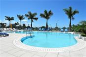 Heated pool at lobby level - Condo for sale at 1155 N Gulfstream Ave #507, Sarasota, FL 34236 - MLS Number is A4458926