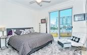 Master bedroom opens to the terrace - Condo for sale at 100 Central Ave #A401, Sarasota, FL 34236 - MLS Number is A4463296