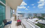This terrace off the living room - Condo for sale at 1350 Main St #1601, Sarasota, FL 34236 - MLS Number is A4478753