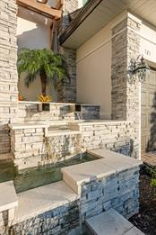 Waterfalls At Front Door Entrance - Single Family Home for sale at 121 Seagull Ln, Sarasota, FL 34236 - MLS Number is A4483951