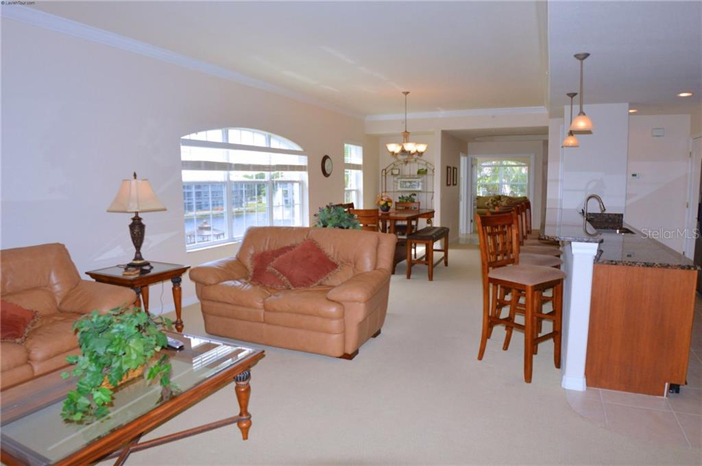 Living room/Breakfast Bar/Dining Room - Condo for sale at 1100 San Lino Cir #1134, Venice, FL 34292 - MLS Number is N5910364