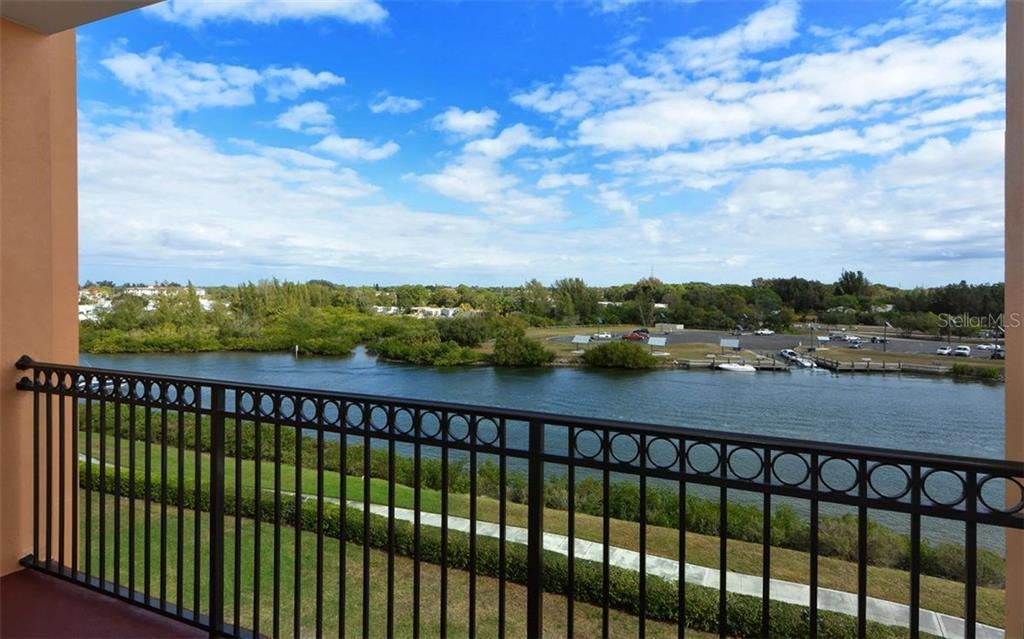 View of Intracoastal from Private Balcony - Condo for sale at 167 Tampa Ave E #513, Venice, FL 34285 - MLS Number is N5911190