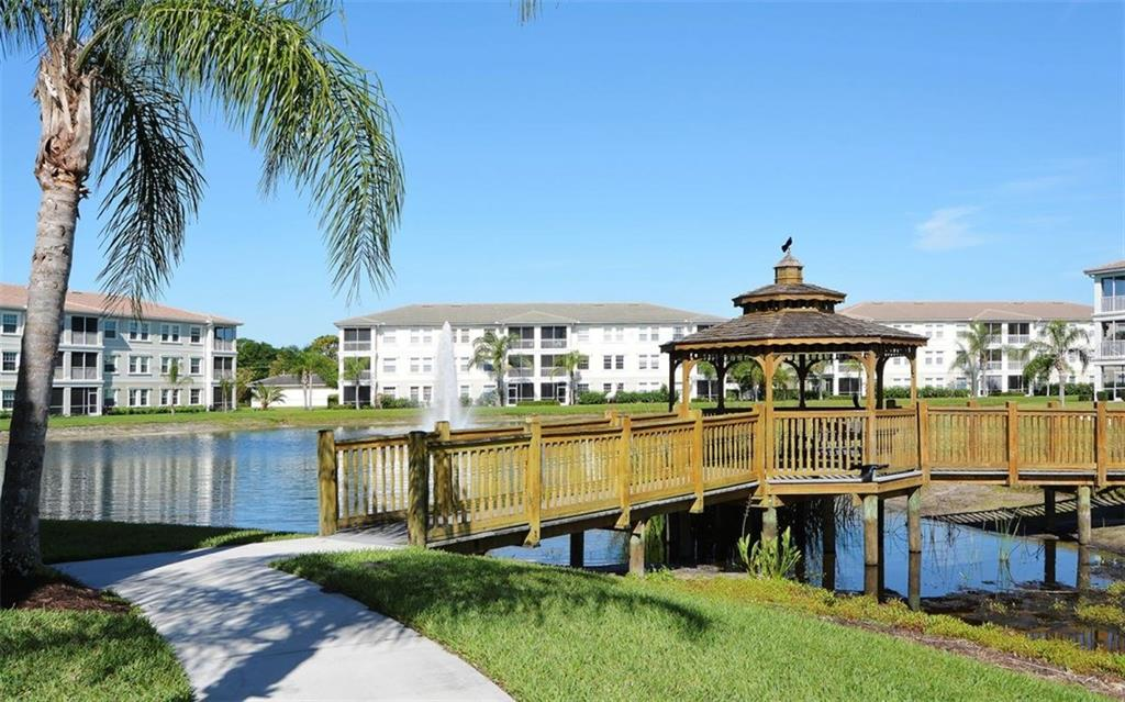 Pond at the rear of the property - Condo for sale at 500 San Lino Cir #524, Venice, FL 34292 - MLS Number is N5912607