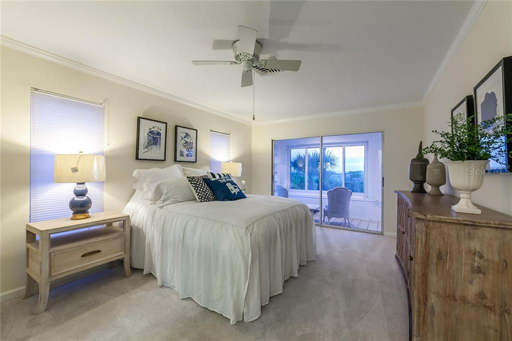 Master Bedroom - Villa for sale at 710 Golden Beach Blvd #v4, Venice, FL 34285 - MLS Number is N5912832