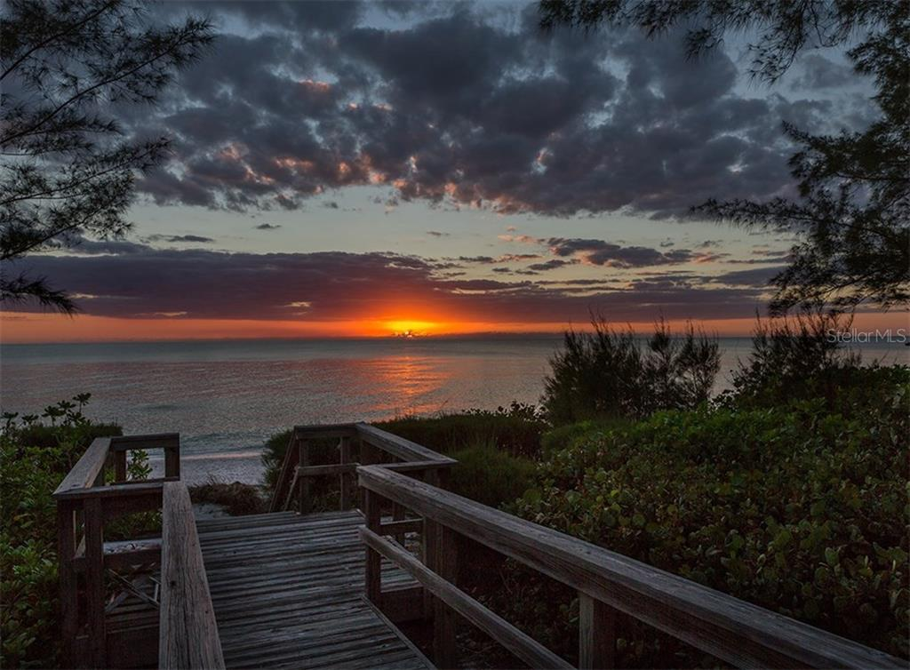 Sunset from your private beach - Single Family Home for sale at 3509 Casey Key Rd, Nokomis, FL 34275 - MLS Number is N5915098
