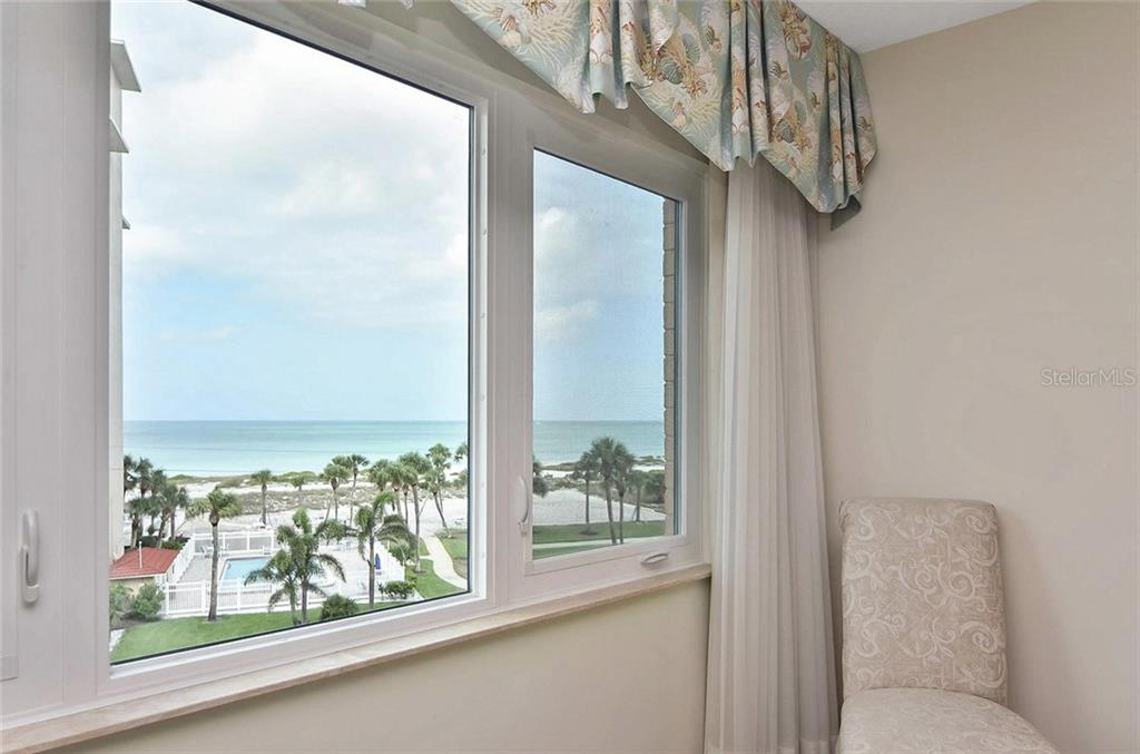View of gulf from master bedroom - Condo for sale at 500 The Esplanade N #402, Venice, FL 34285 - MLS Number is N6100557