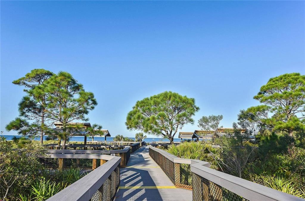 Boardwalk to the beach and pavilions. - Single Family Home for sale at 316 Alba St E, Venice, FL 34285 - MLS Number is N6102095