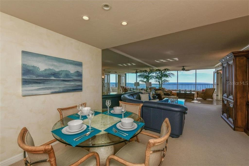 VIEW AS YOU ENTER THE UNIT - Condo for sale at 5740 Midnight Pass Rd #505 F, Sarasota, FL 34242 - MLS Number is N6102195