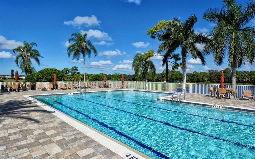 Clubhouse heated pool - Single Family Home for sale at 821 Adonis Pl, Venice, FL 34292 - MLS Number is N6104303